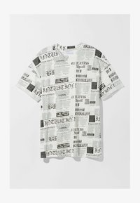 Bershka - Print T-shirt - off-white - 4