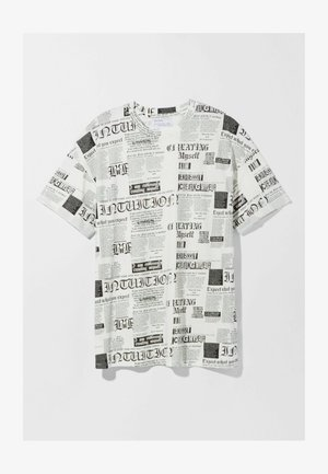 T-shirt med print - off-white