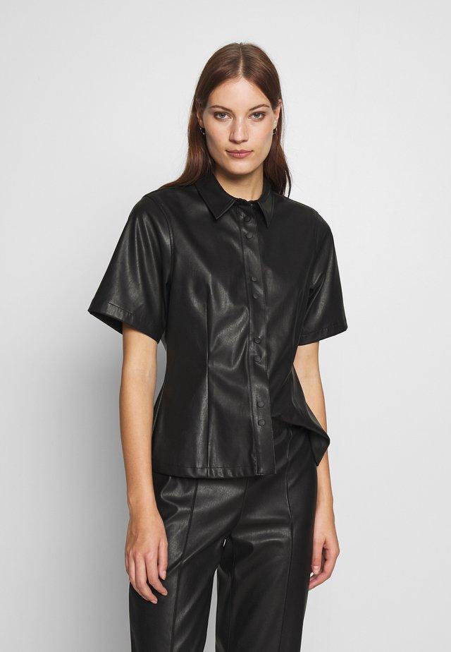 SHILA - Button-down blouse - black