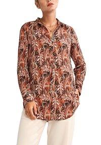 comma - LONG - Button-down blouse - black paisley - 0