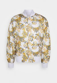 Versace Jeans Couture - RISTOP PRINTED LOGO BAROQUE - Bomberjacke - bianco ottico - 10