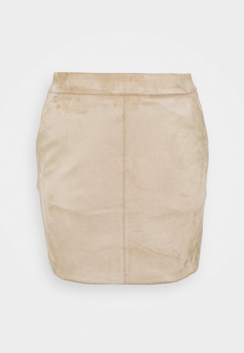 Vero Moda Petite - VMDONNADINA SHORT SKIRT - Mini skirt - silver mink