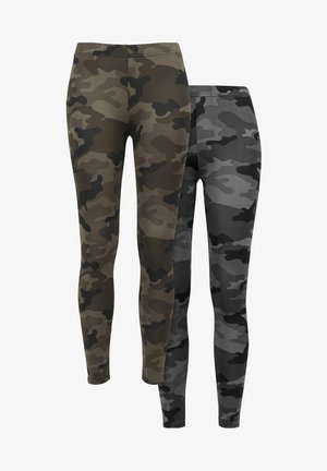 2-PACK - Leggings - Trousers - woodcamo darkcamo