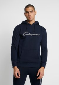 CLOSURE London - DOUBLE SCRIPT HOODY - Mikina s kapucí - navy - 0