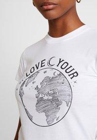 Topshop - LOVE YOUR WORLD - Print T-shirt - white - 5