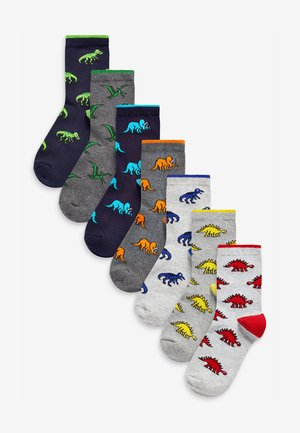 7 PACK RICH DINOSAUR - Socks - multi-coloured