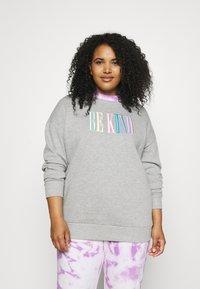 Simply Be - EBROIDERED CREW - Sweatshirt - grey marl - 0