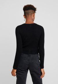 Nly by Nelly - CROPPED CARDIGAN - Cardigan - black - 2