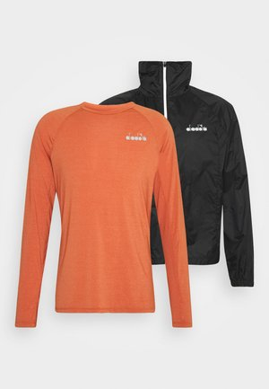 MULTILAYER JACKET BE ONE SET - Sports jacket - almond milk/mecca orange