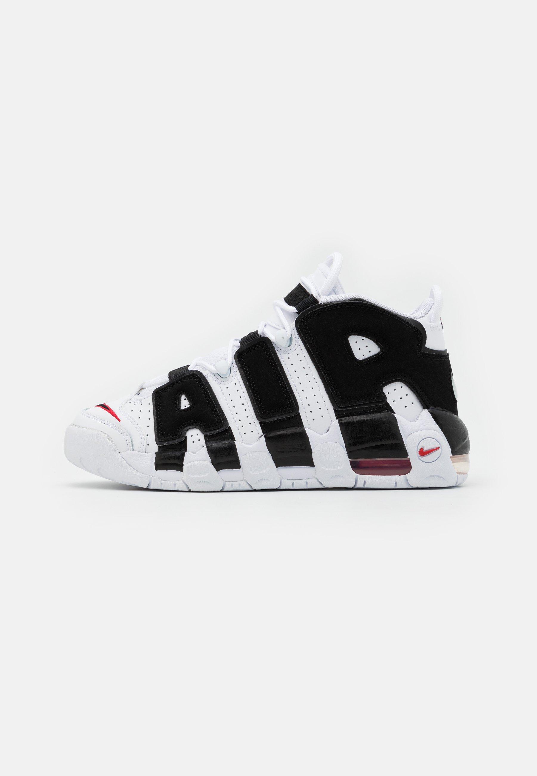 biografía Matemático Tratar  Nike Sportswear AIR MORE UPTEMPO UNISEX - Zapatillas altas -  white/black/university red/blanco - Zalando.es