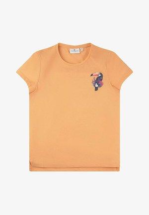 Print T-shirt - cantaloupe|orange