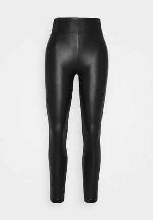 VIANNAS NEW COATED - Leggings - Trousers - black