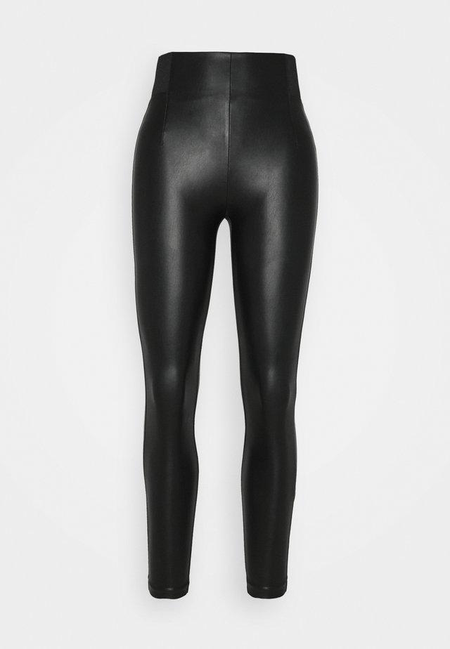 VIANNAS NEW COATED - Leggings - Hosen - black