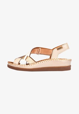 Wedge sandals - marfil