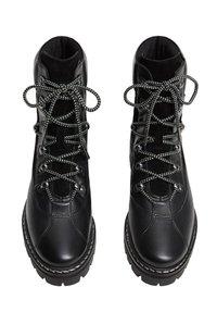 Mango - MOUNTAIN - Šněrovací kotníkové boty - black - 3
