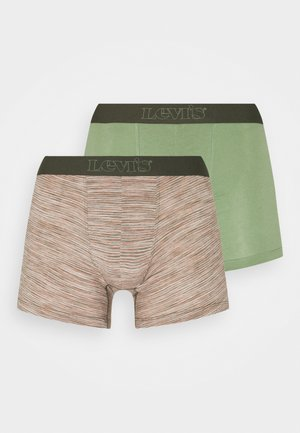 MICRO STRIPE BOXER BRIEF 2 PACK - Boxerky - green