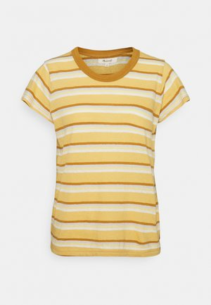 PERFECT VINTAGE TEE - Print T-shirt - sahara sand