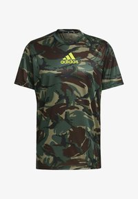 adidas Performance - CAMOUFLAGE GT1 DESIGNED2MOVE PRIMEGREEN WORKOUT GRAPHIC T-SHIRT - T-shirt med print - green - 6