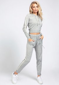 Guess - Jersey con capucha - light grey - 1