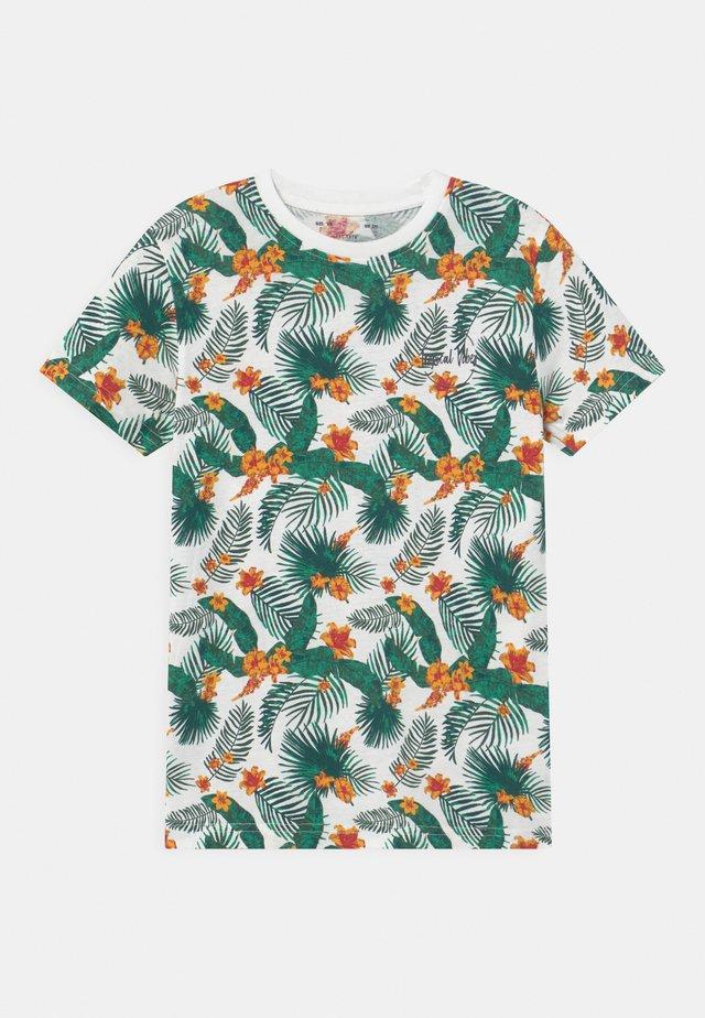 LAZAROS - T-shirts med print - white