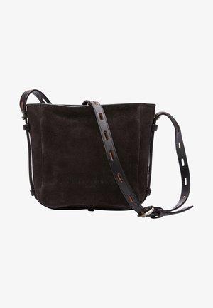 INSPCROXS - Across body bag - dark chocolate