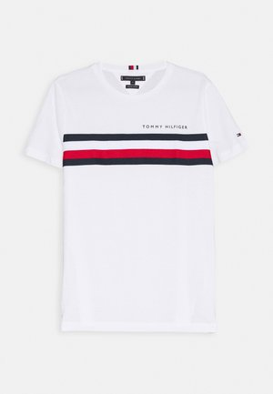 GLOBAL STRIPE TEE - Print T-shirt - white