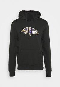 New Era - NFL BALTIMORE RAVENS HOODIE - Club wear - black - 4