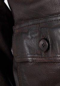 TOP GUN - Leather jacket - braun - 4