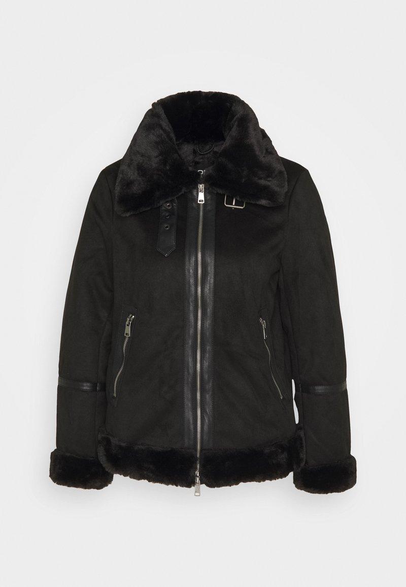 ONLY Petite - ONLJANICE BONDED AVIATOR - Winter jacket - black