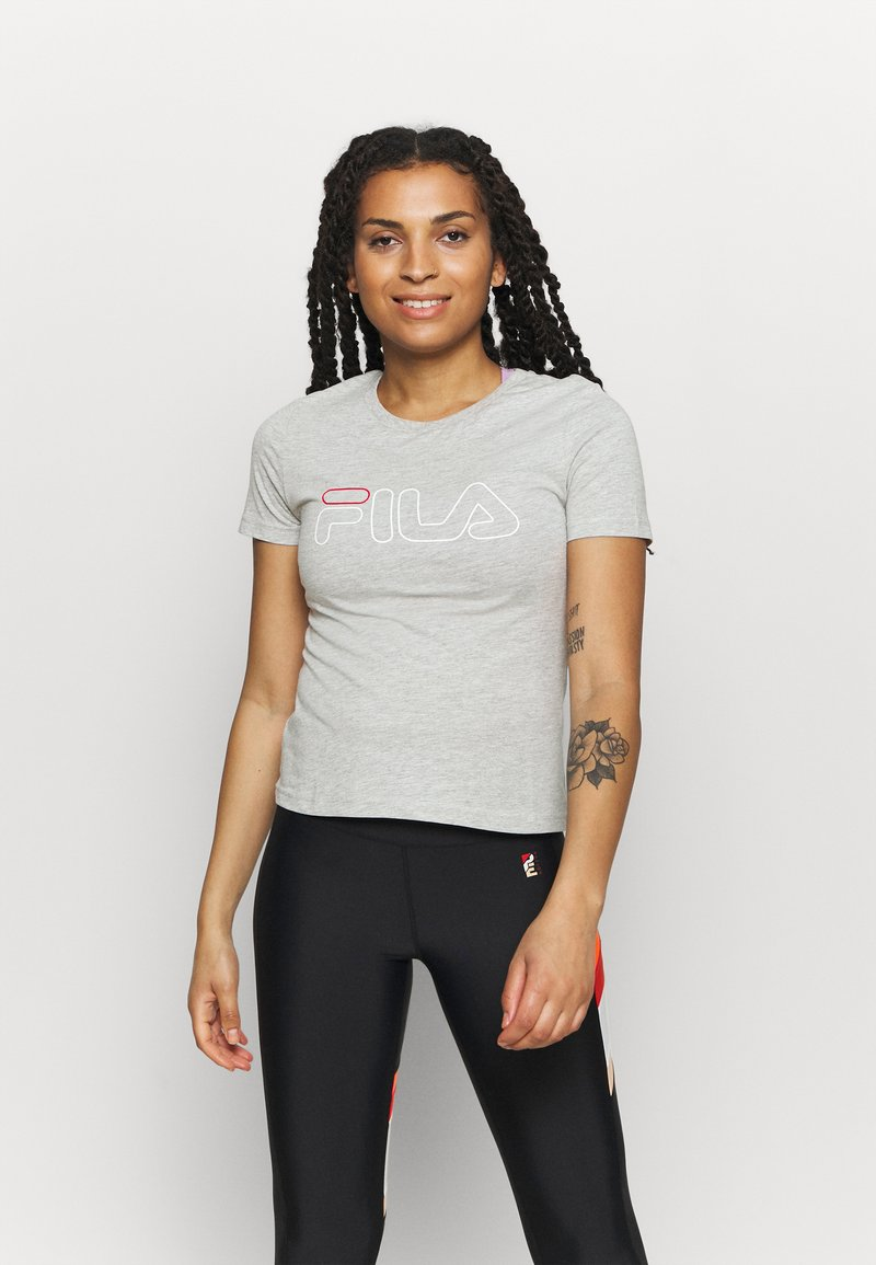 Fila - LADAN TEE - Print T-shirt - light grey