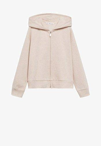 Zip-up sweatshirt - zand