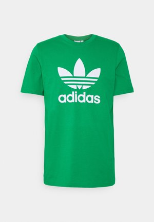 TREFOIL T-SHIRT ORIGINALS ADICOLOR - T-shirt z nadrukiem - green/white