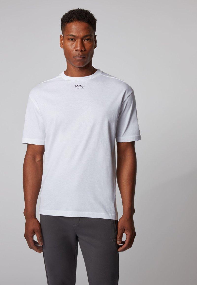 BOSS - TALBOA - Print T-shirt - white