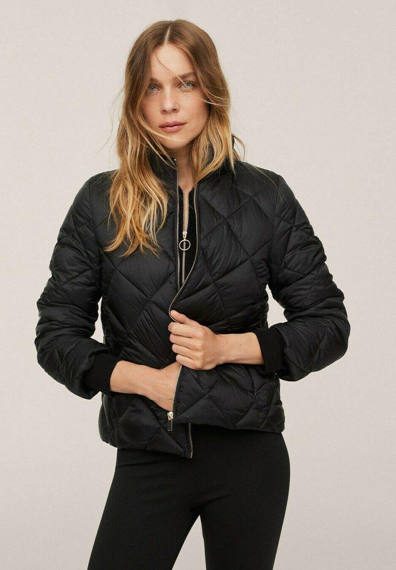 Mango - PIUMINO ROMBI - Winter jacket - nero