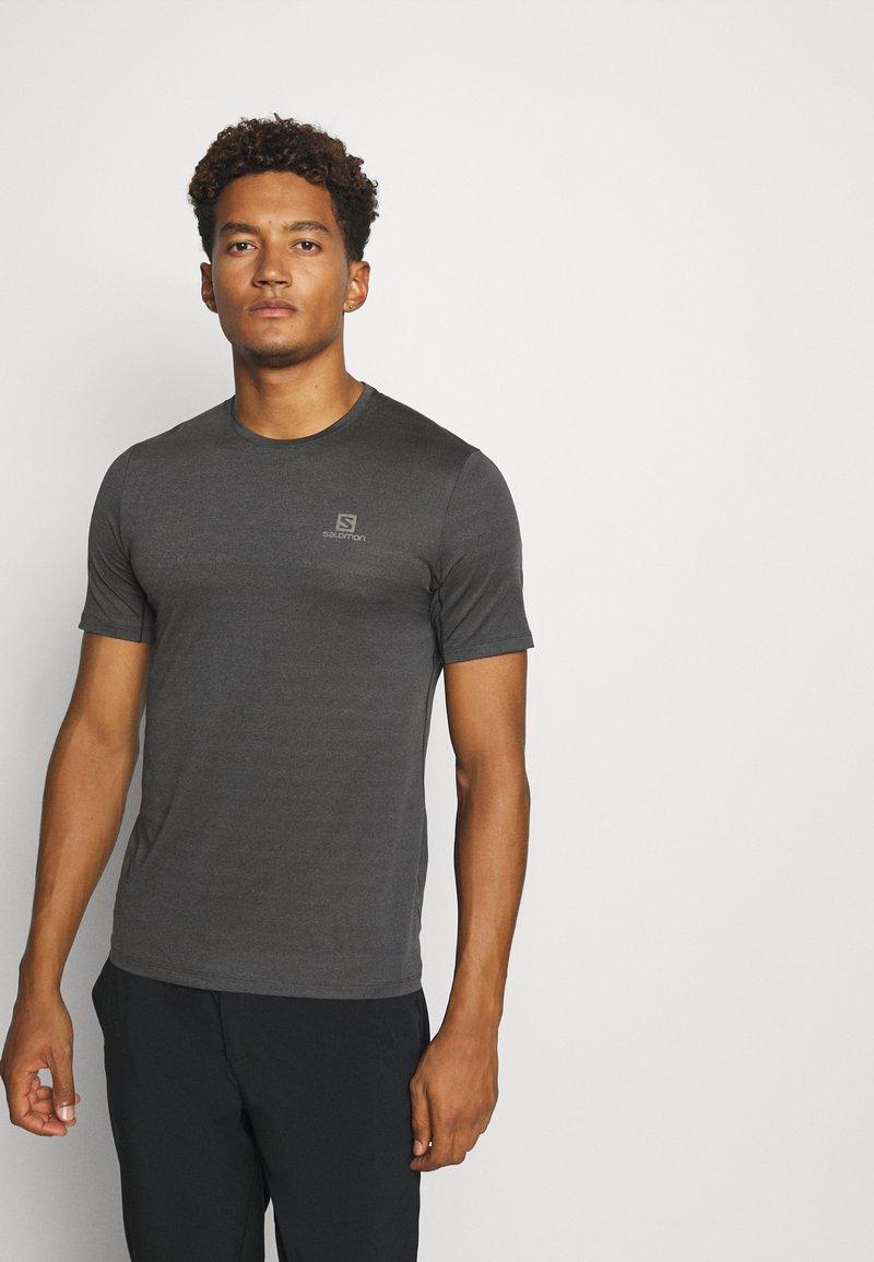 Salomon - TEE - Jednoduché triko - black/heather