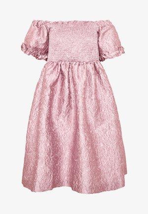 RIPPLE JACQUARD MINI DRESS - Robe de soirée - pink