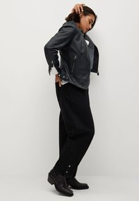 Violeta by Mango - CHELSEA7 - Leather jacket - dunkles marineblau - 3