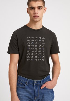 JAAMES - T-shirt print - dark pine