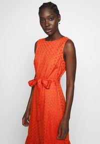 Wallis - BRODERIE TIERED MIDI DRESS - Day dress - red - 4