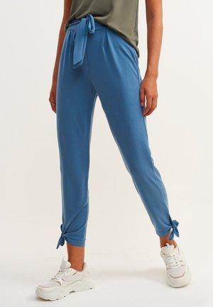 Spodnie materiałowe - cerulean