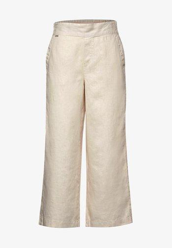 MIT WIDE LEG - Trousers - braun