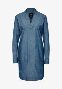 G-Star - MILARY V-NECK SHIRT - Denim dress - rinsed - 4