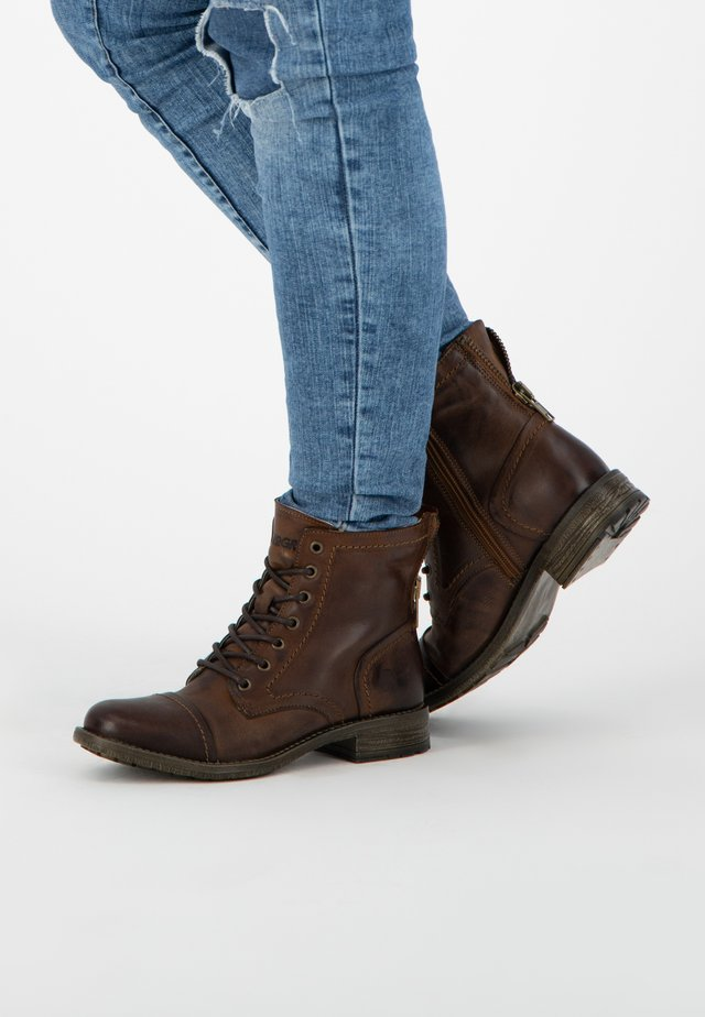 R.MYLNE - Lace-up ankle boots - cognac