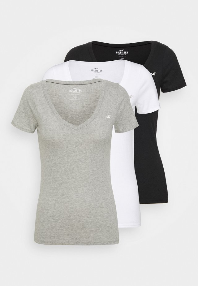 ICON MULTI 3 PACK - Camiseta básica - white/black/light grey