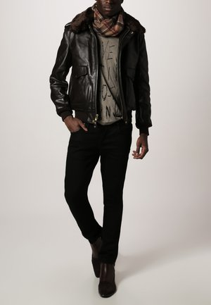 184 SM - Leather jacket - brown