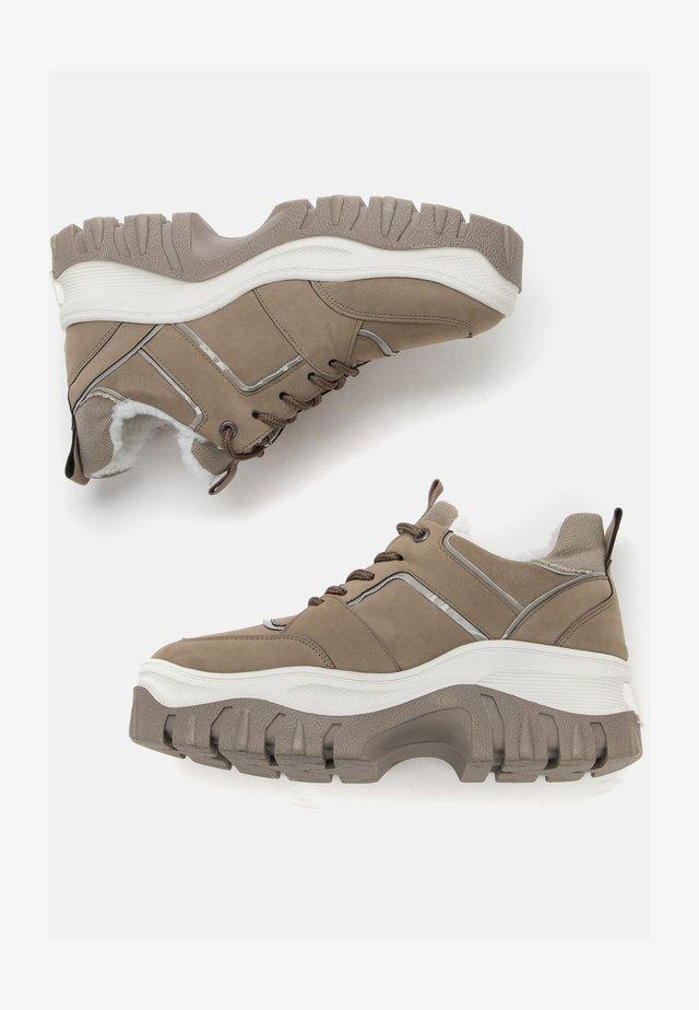Sneakers laag - dark beige