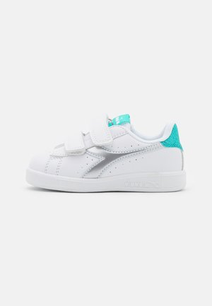 GAME GIRL - Sports shoes - white/blue turquoise