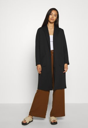 ONLSISSY DUSTER LONG COAT - Villakangastakki - black