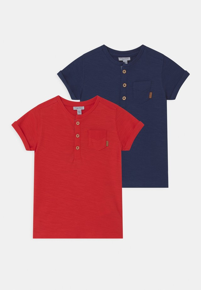 SERAPH WITH POCKET 2 PACK - T-shirt imprimé - high risk red/blue wing teal