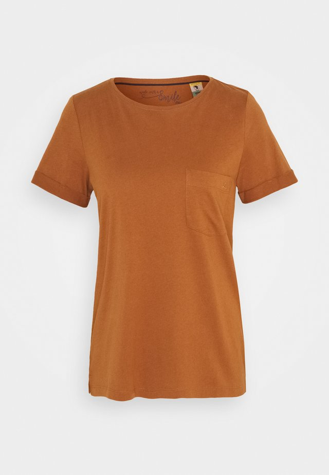 KURZARM - T-Shirt basic - brown